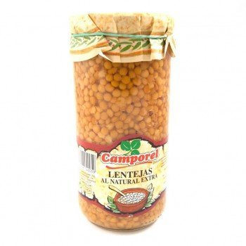 Llenties al natural Extra Camporel (720 g)